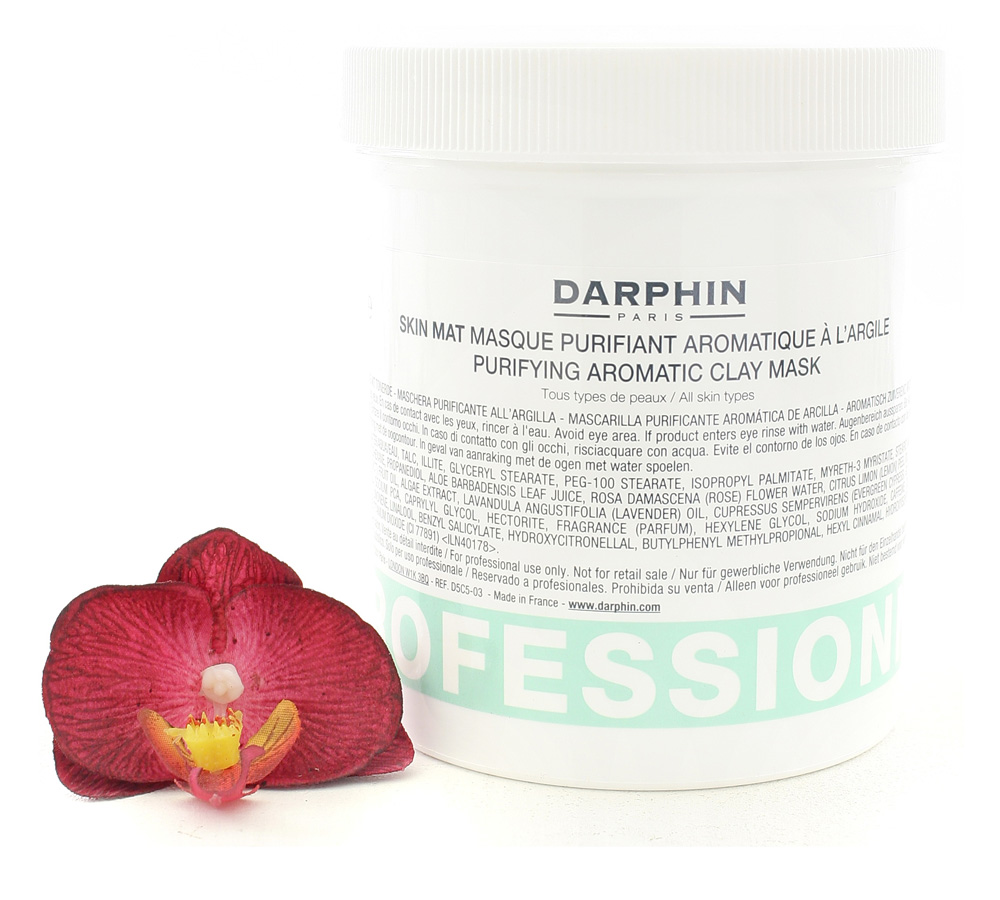 D5C5-03 Darphin Purifying Aromatic Clay Mask - Skin Mat Masque Purifiant Aromatique a l'Argile 480ml