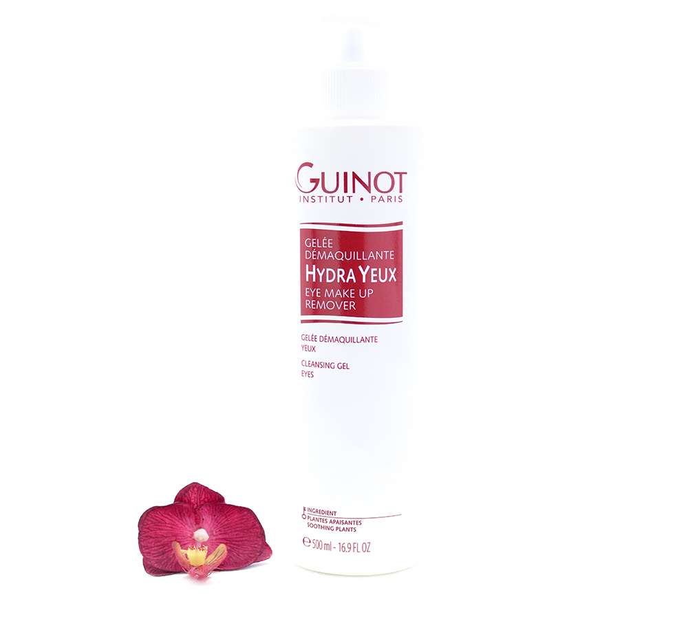 551404-1 Guinot Hydra Yeux Eye - Make Up Remover Cleansing Gel 500ml