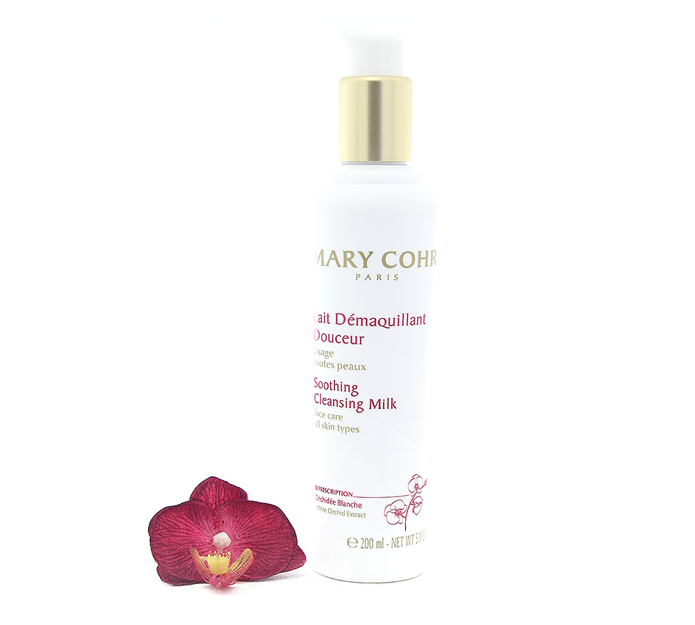 891990-1 Mary Cohr Lait Demaquillant Douceur - Soothing Cleansing Milk 200ml