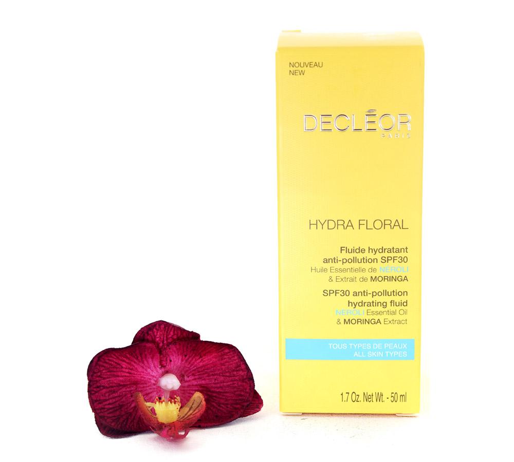 DR561000 Decleor Hydra Floral Fluide Hydratant Anti-Pollution LSF30 - Anti-Pollution Hydrating Fluid 50ml