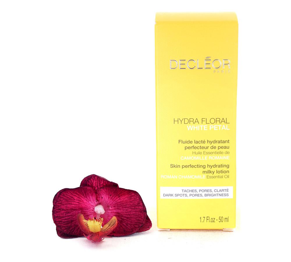 DR626001 Decleor Hydra Floral White Petal Fluide Lacté Hydratant Perfecteur de Peau - Skin Perfecting Hydrating Milky Lotion 50ml