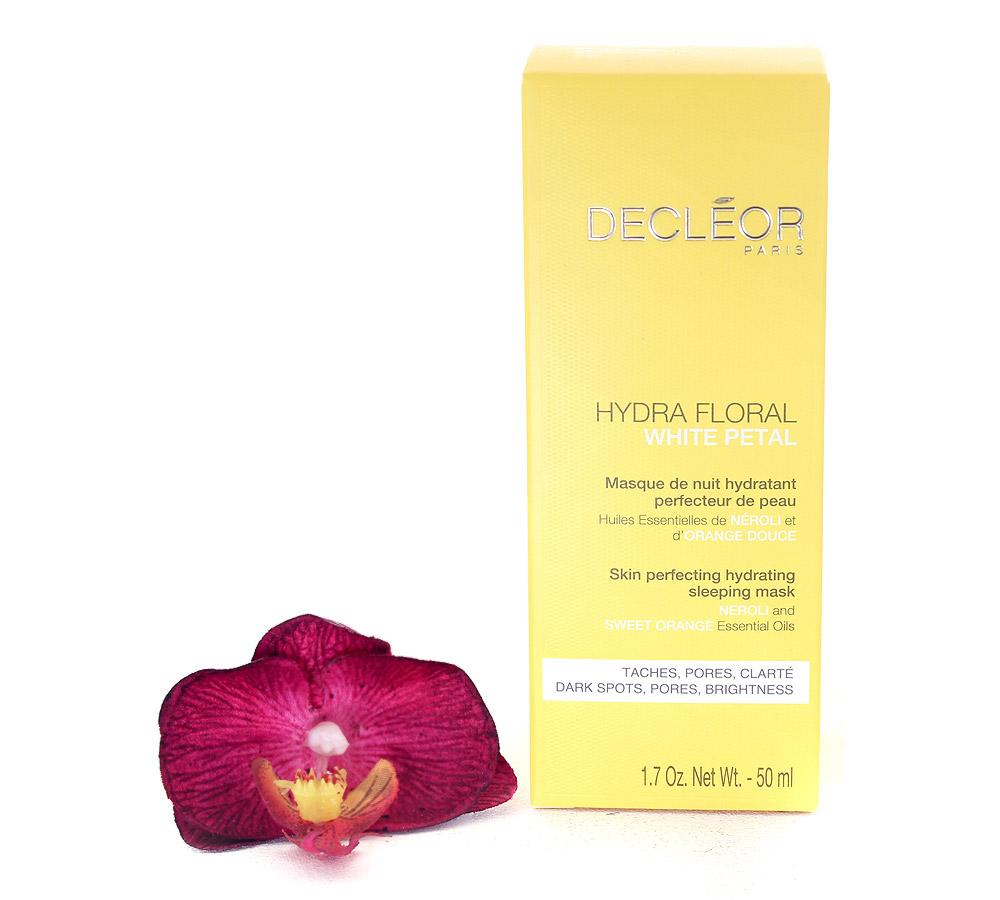 DR771000 Decleor Hydra Floral White Petal Skin Perfecting Hydrating Sleeping Mask - Masque de Nuit Hydratant Perfecteur de Peau 50ml