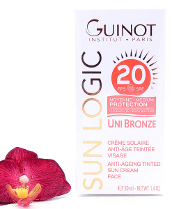 26515060-247x300 Guinot Sun Logic Uni Bronze - Anti-Ageing Tinted Sun Cream Face SPF20 50ml