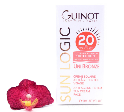 26515060-510x459 Guinot Sun Logic Uni Bronze - Anti-Ageing Tinted Sun Cream Face SPF20 50ml