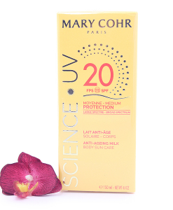 893920-247x300 Mary Cohr Science UV Anti-Ageing Milk - Medium Protection Body Sun Care SPF20 150ml