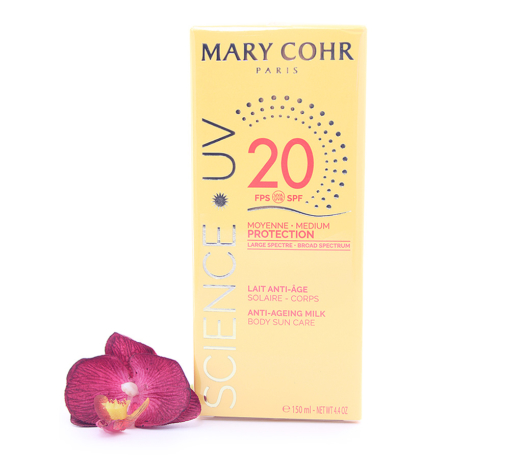 893920-510x459 Mary Cohr Science UV Anti-Ageing Milk - Medium Protection Body Sun Care SPF20 150ml