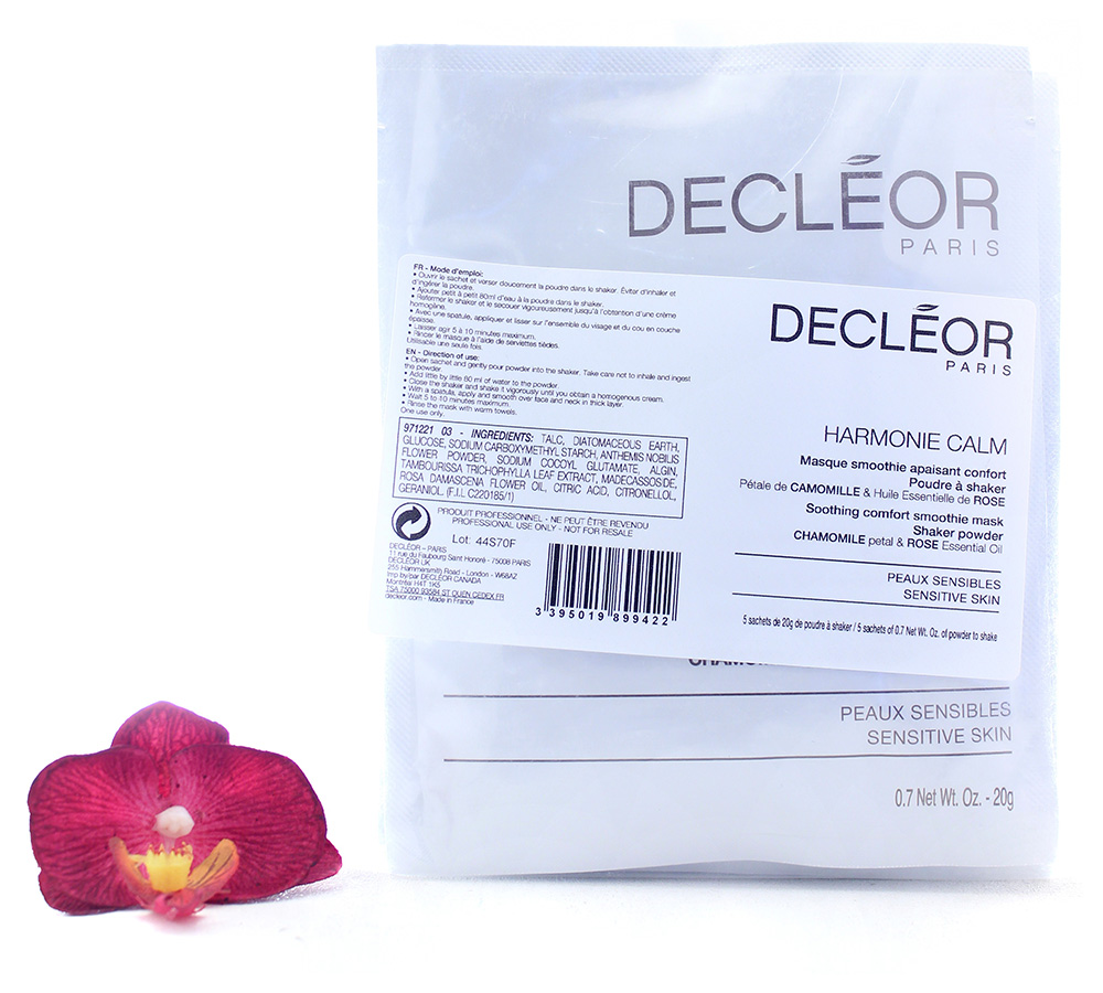 DR2707800 Decleor Harmonie Calm - Soothing Comfort Smoothie Mask 5x20g