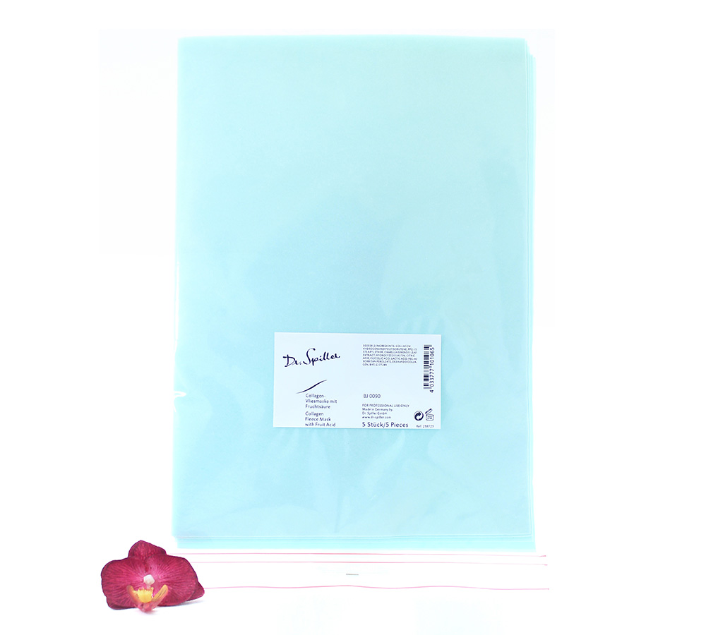 218729 Dr. Spiller Collagen Fleece Mask With Fruit Acid 5pcs