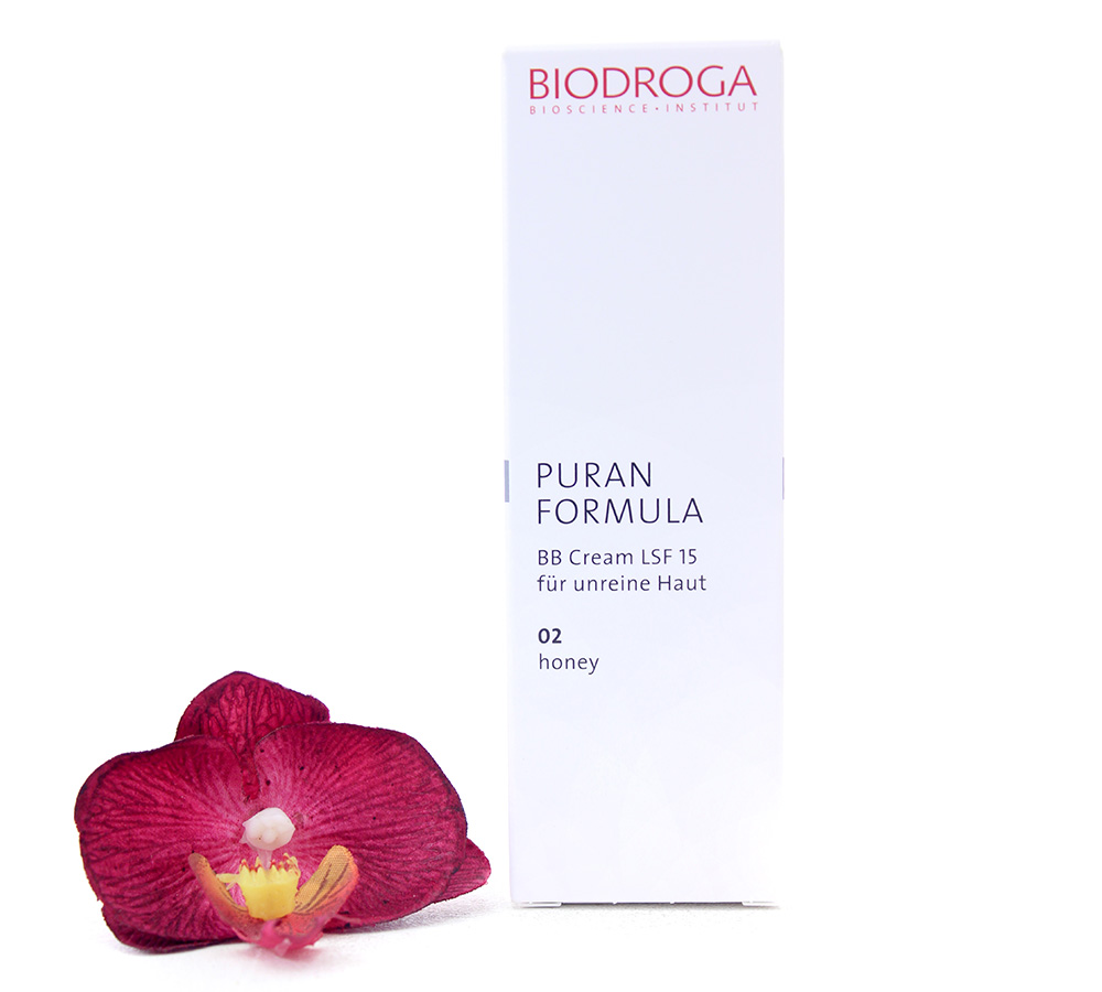 43753 Biodroga Puran Formula - BB Cream SPF15 For Impure Skin 02 Honey Touch 40ml