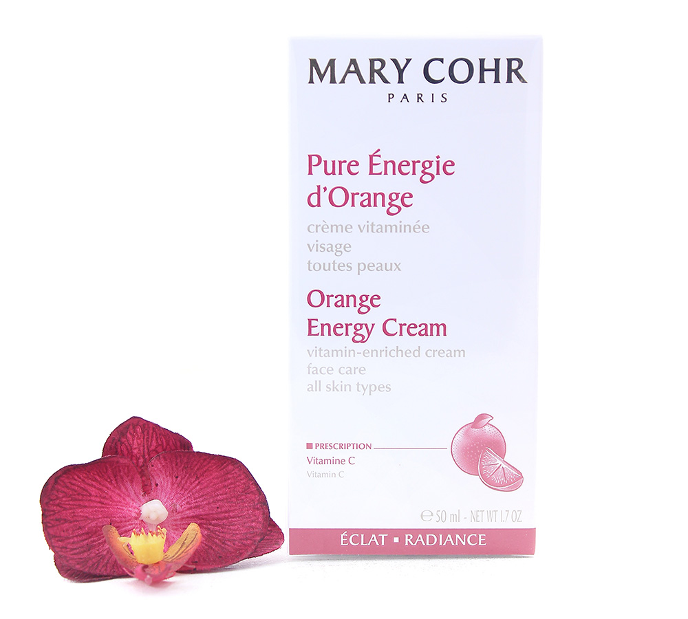 857280-2 Mary Cohr Orange Energy Cream - Vitamin-Enriched Face Care 50ml