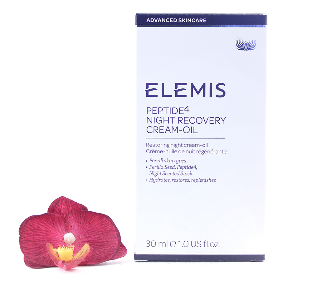 EL50163 Elemis Peptide4 Night Recovery Cream-Oil 30ml