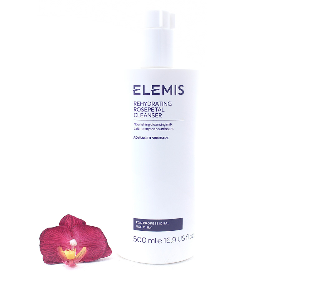 EL01162 Elemis Rehydrating Rosepetal Cleanser - Nourishing Cleansing Milk 500ml