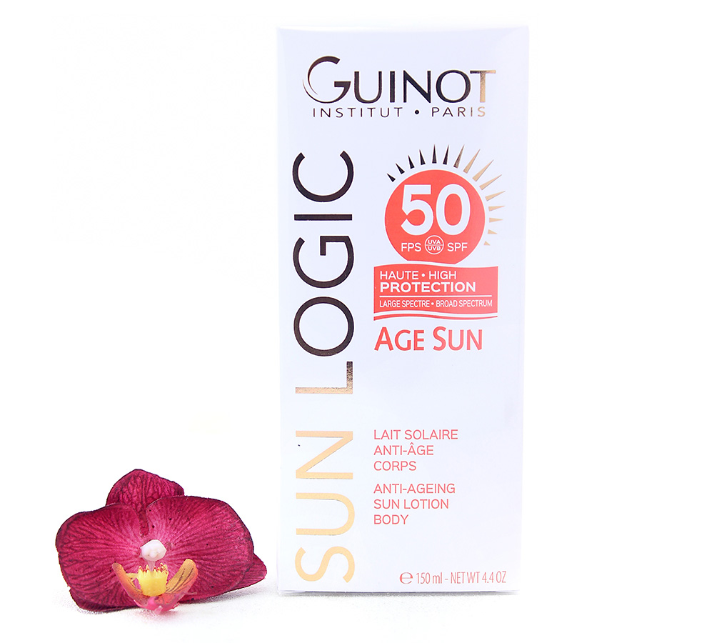 26515200 Guinot Sun Logic Age Sun SPF50 - Anti-Ageing Sun Body Lotion 150ml