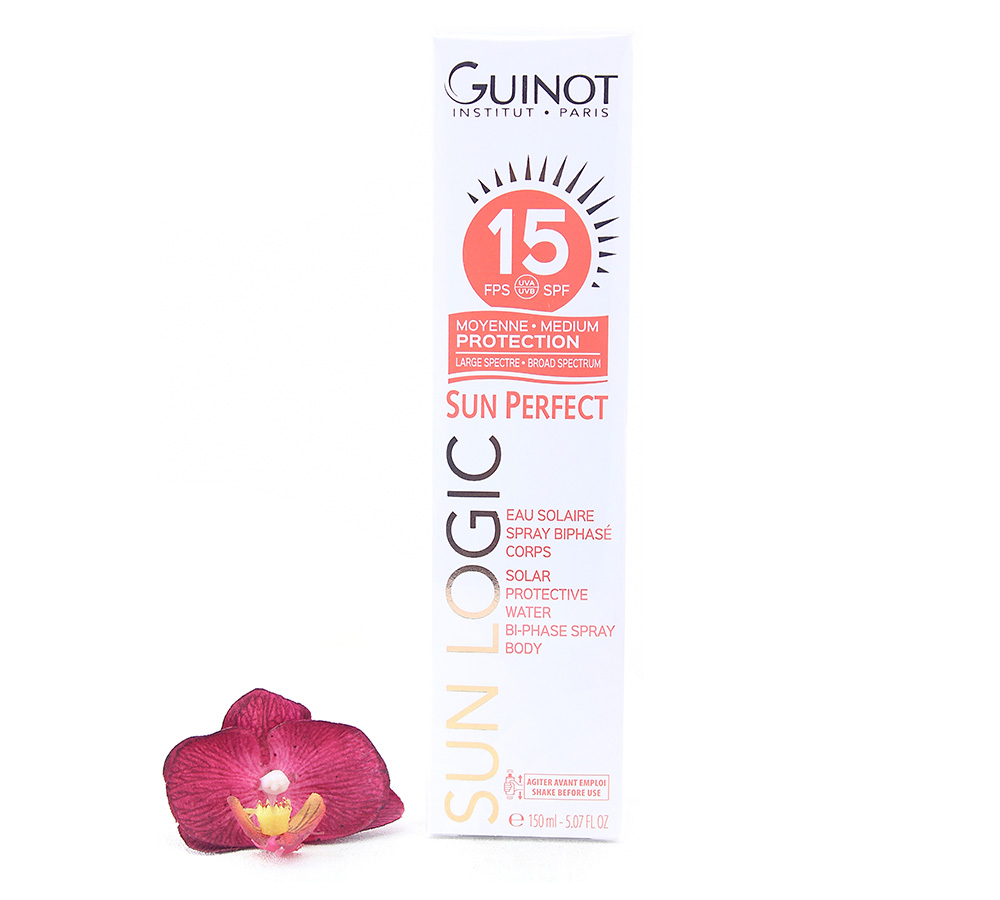 26515300 Guinot Sun Logic SPF15 - Solar Protective Water Bi-Phase Spray Body 150ml