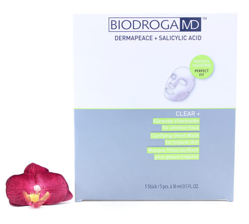 45446-510x459 Biodroga MD Clear+ Clarifying Sheet Mask For Impure Skin 5x16ml
