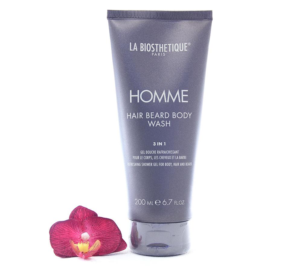 003928 La Biosthetique Homme - Hair Beard Body Wash 200ml