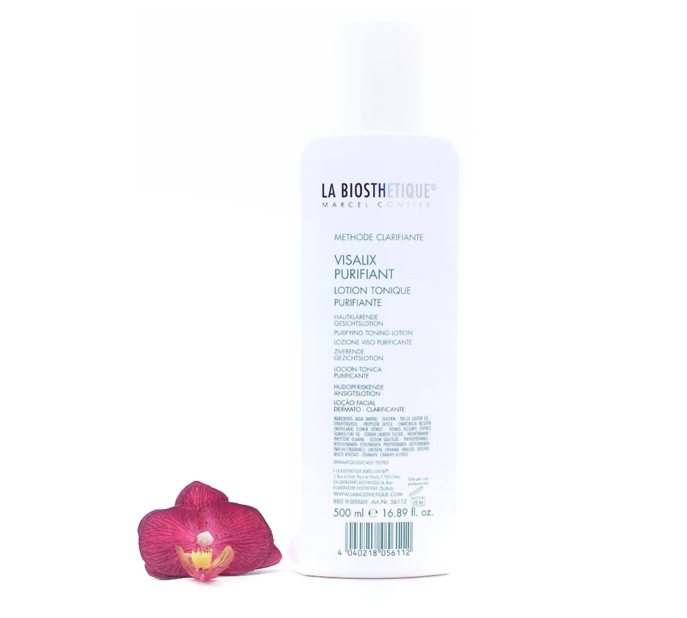 056112 La Biosthetique Methode Clarifiante Visallx Purifiant - Purifying Toning Lotion 500ml