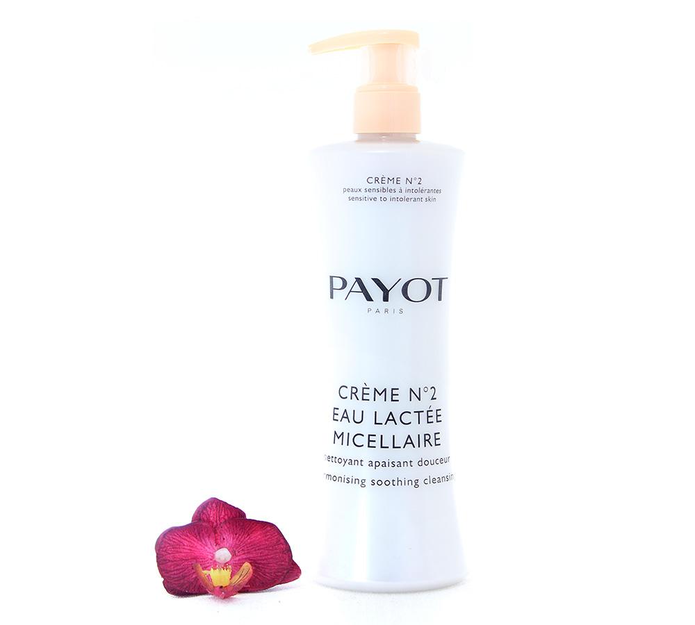 65116734 Payot Crème No2 Eau Lactee Micellaire - Nettoyant Apaisant Douceur 400ml