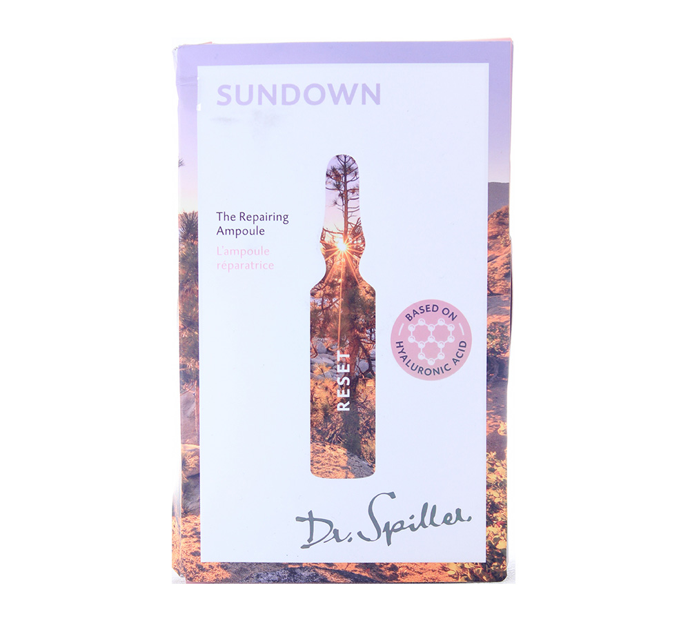 120143_damaged_package Dr. Spiller Reset Sundown - The Repairing Ampoule 7x2ml Damaged Package