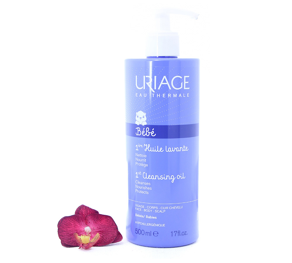 3661434005770 Uriage Bébé - 1st Cleansing Oil 500ml