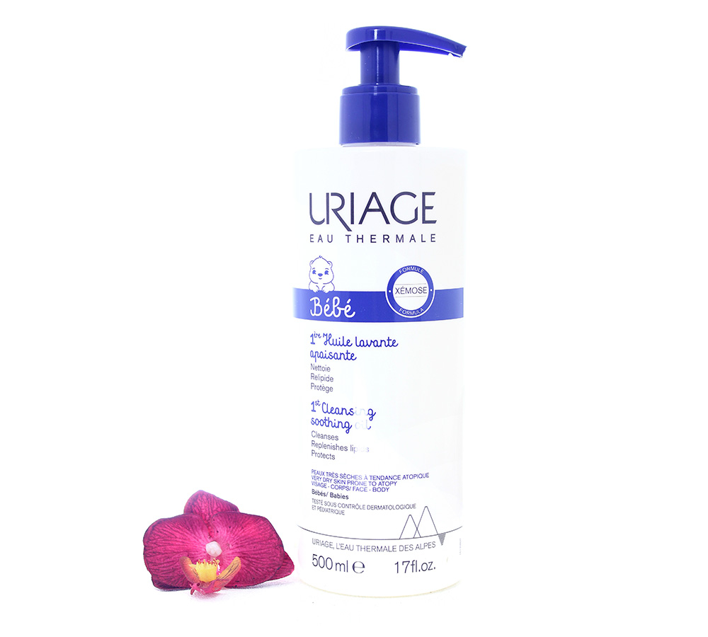 3661434008146 Uriage Bébé - 1st Cleansing Soothing Oil 500ml