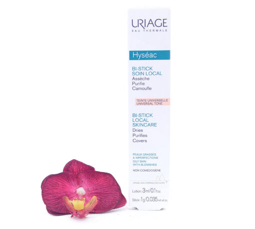 3661434001628-510x459 Uriage Hyséac - Bi-Stick Anti-Blemish Stick 3ml Lotion 1g Stick