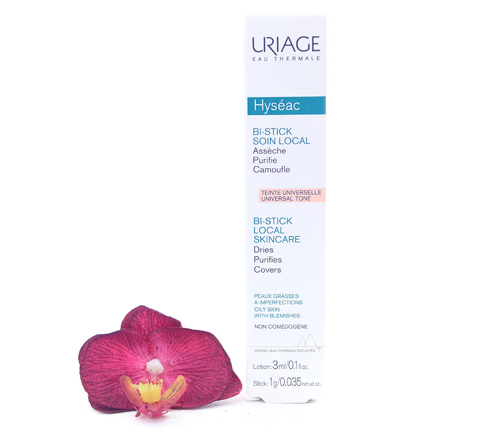 3661434001628 Uriage Hyséac - Bi-Stick Anti-Blemish Stick 3ml Lotion 1g Stick