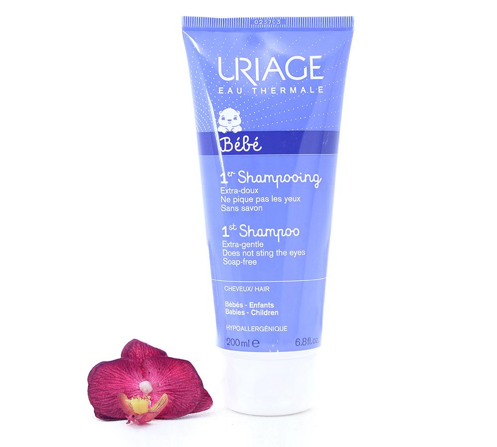 3661434002076 Uriage Bébé 1er Shampooing - Extra-Doux Sans Savon 200ml