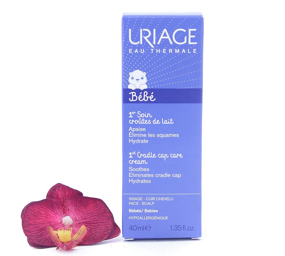 3661434002502 Uriage Bébé - 1st Cradle Cap Care - Soothing Regulating Cream 40ml