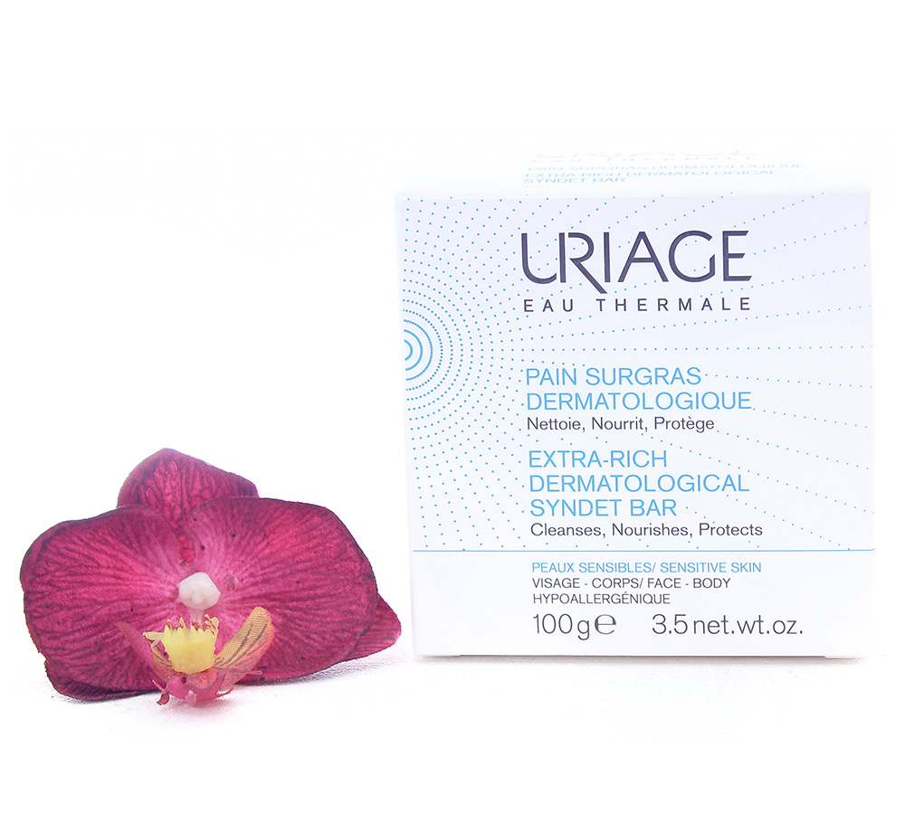 3661434003844 Uriage Extra-Rich Dermatological Syndet Bar 100g
