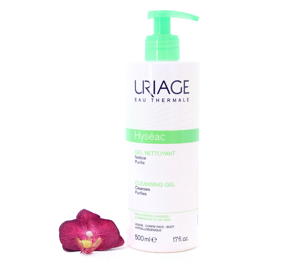 3661434006098-2 Uriage Hyséac - Cleansing Gel 500ml