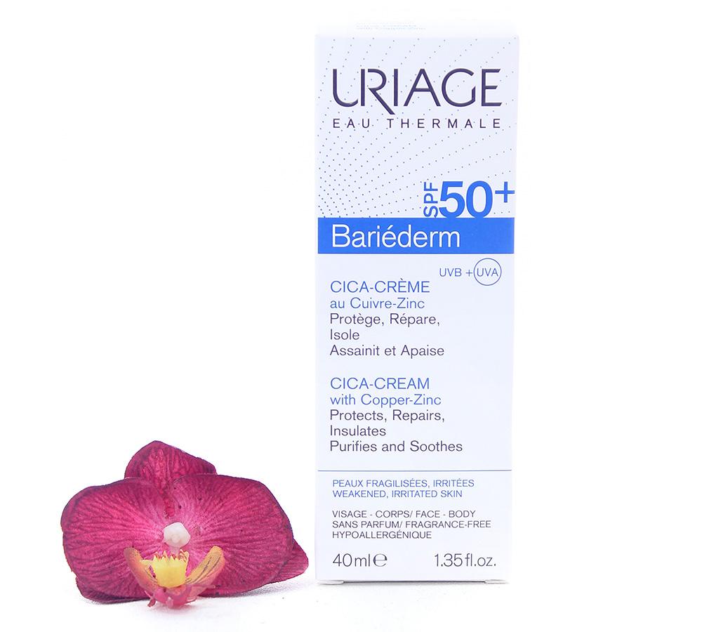 3661434006548_2 Uriage Bariéderm - Cica-Cream SPF50+ With Cu-Zn 40ml
