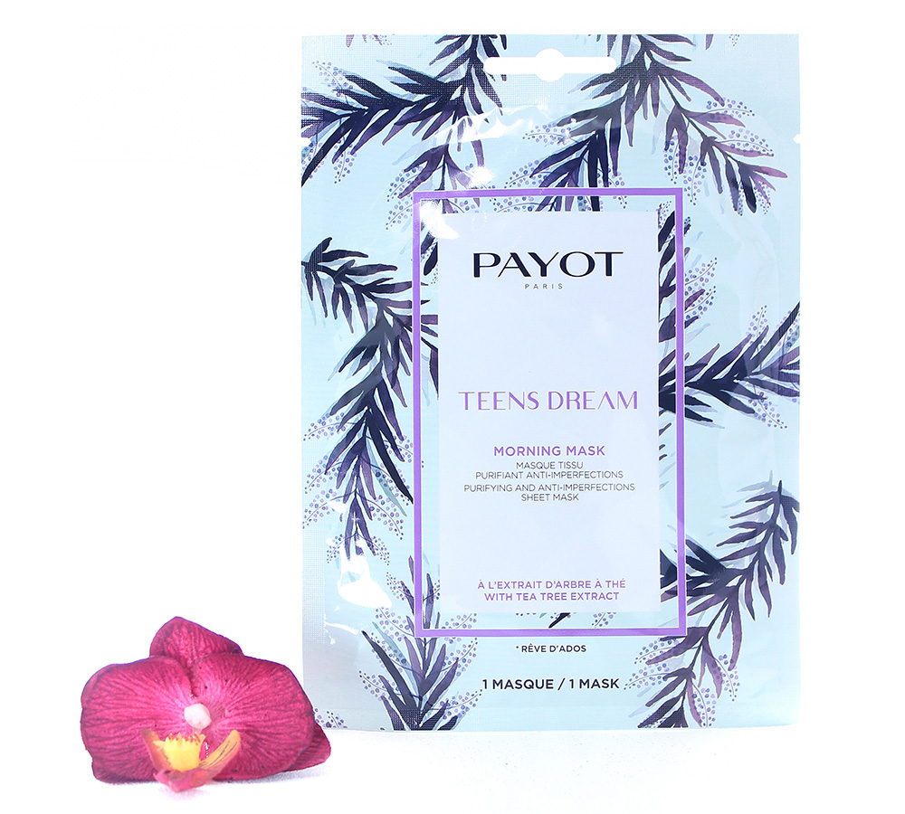 65117338 Payot Teens Dream Morning Mask Purifying Anti-Imperfections Sheet Mask 1 mask